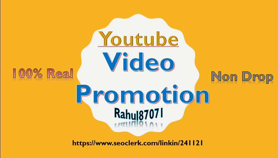 Real Non Drop youtube Video Promotion and Social Media Marketing