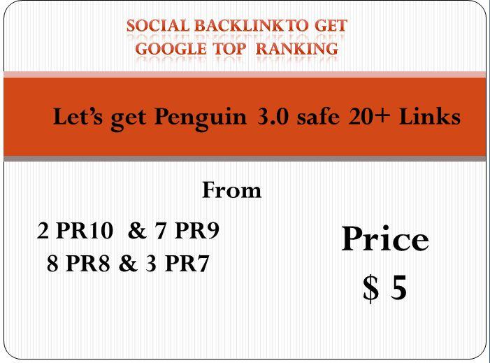Provide 30 Social Profile Links DA50-DA100 to Page Rank