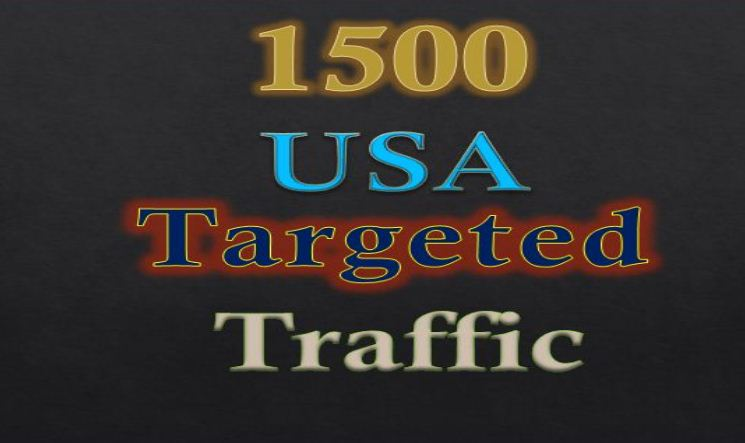 Get 1500 USA Targeted Human Traffic to your web or Blog site