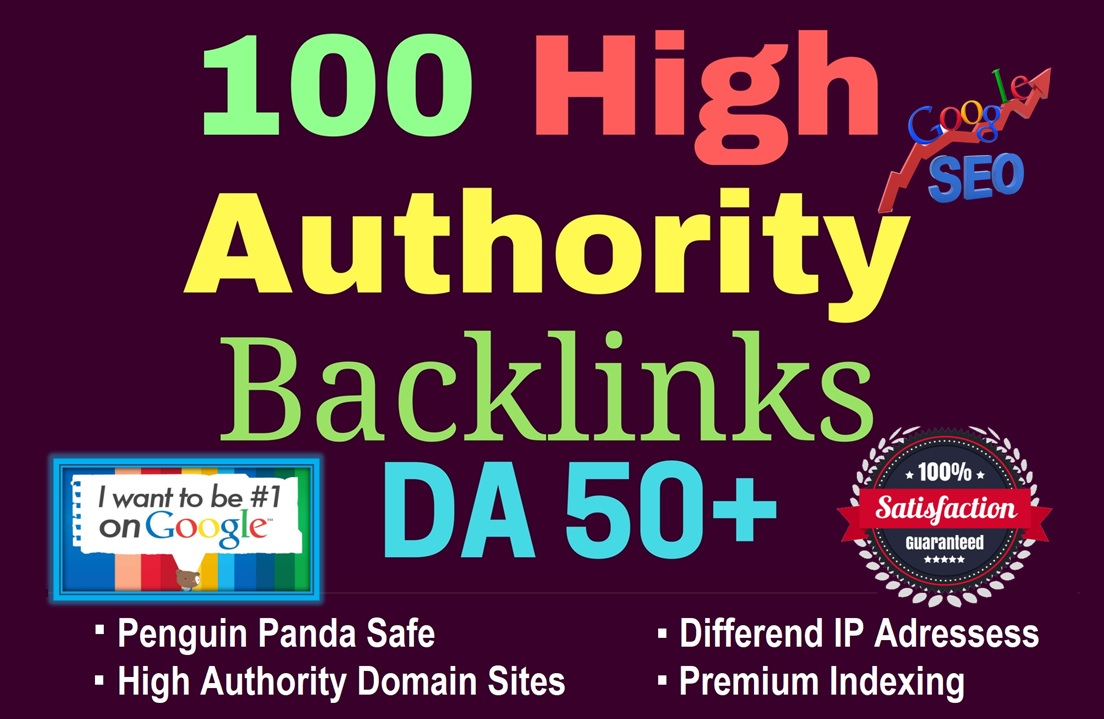 Manually Do 100 backlinks From DA 50 to Rank 1st in Google