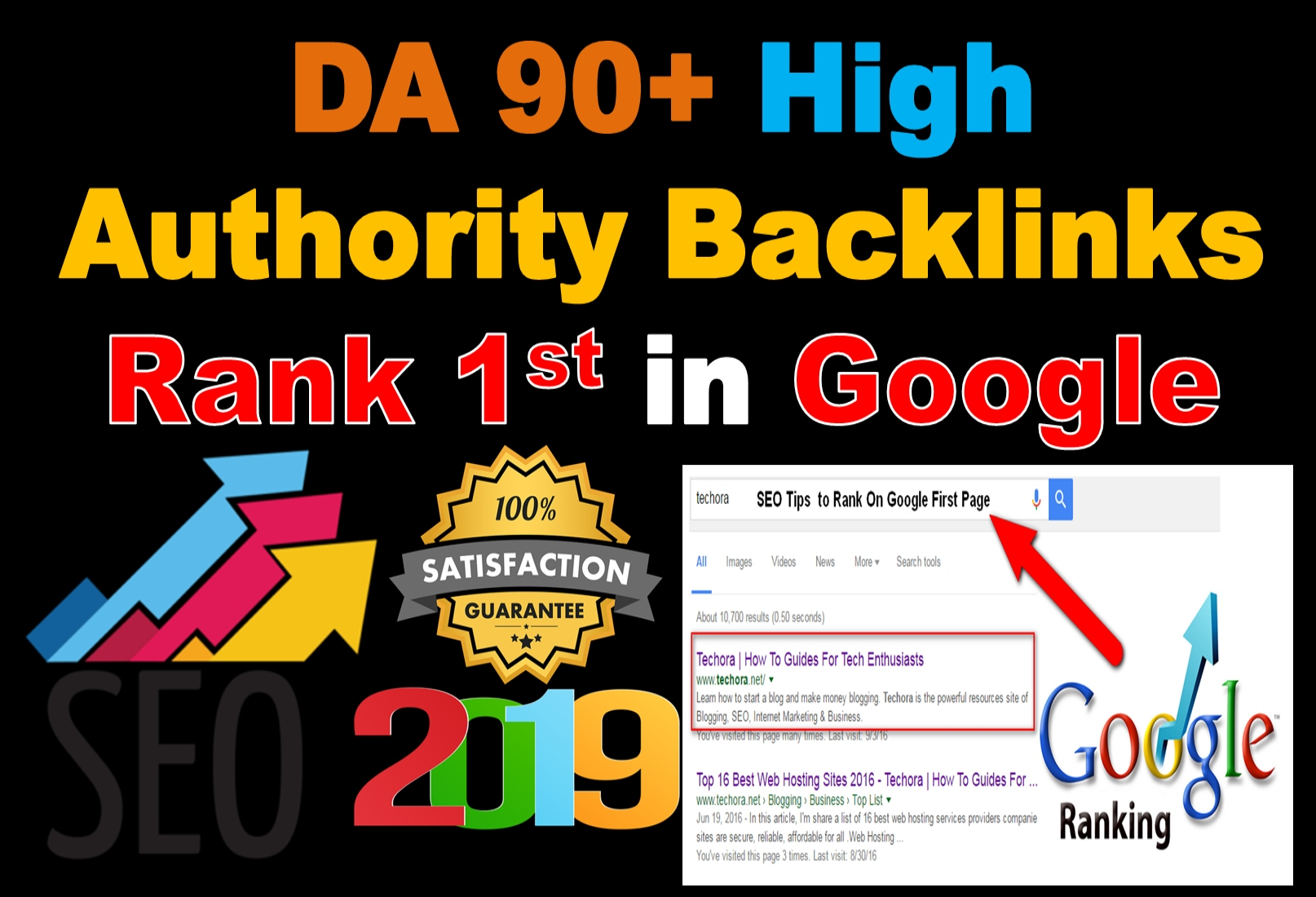 Rank 1st in Google With 10 Backlinks of DA 90 High Authority Website