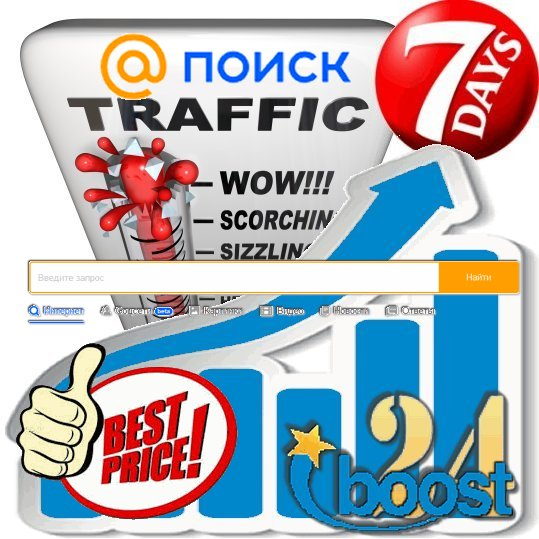 Daily keyword targeted visitors from Go.Mail.ru for 7 days