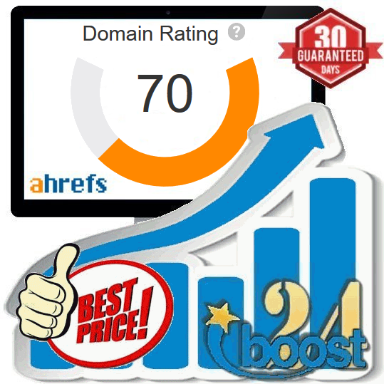 Increase your Domain Rating DR to 70+