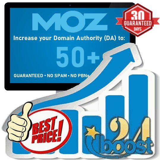 Increase your Domain Authority DA to 50+ 60+ 70+ 80+