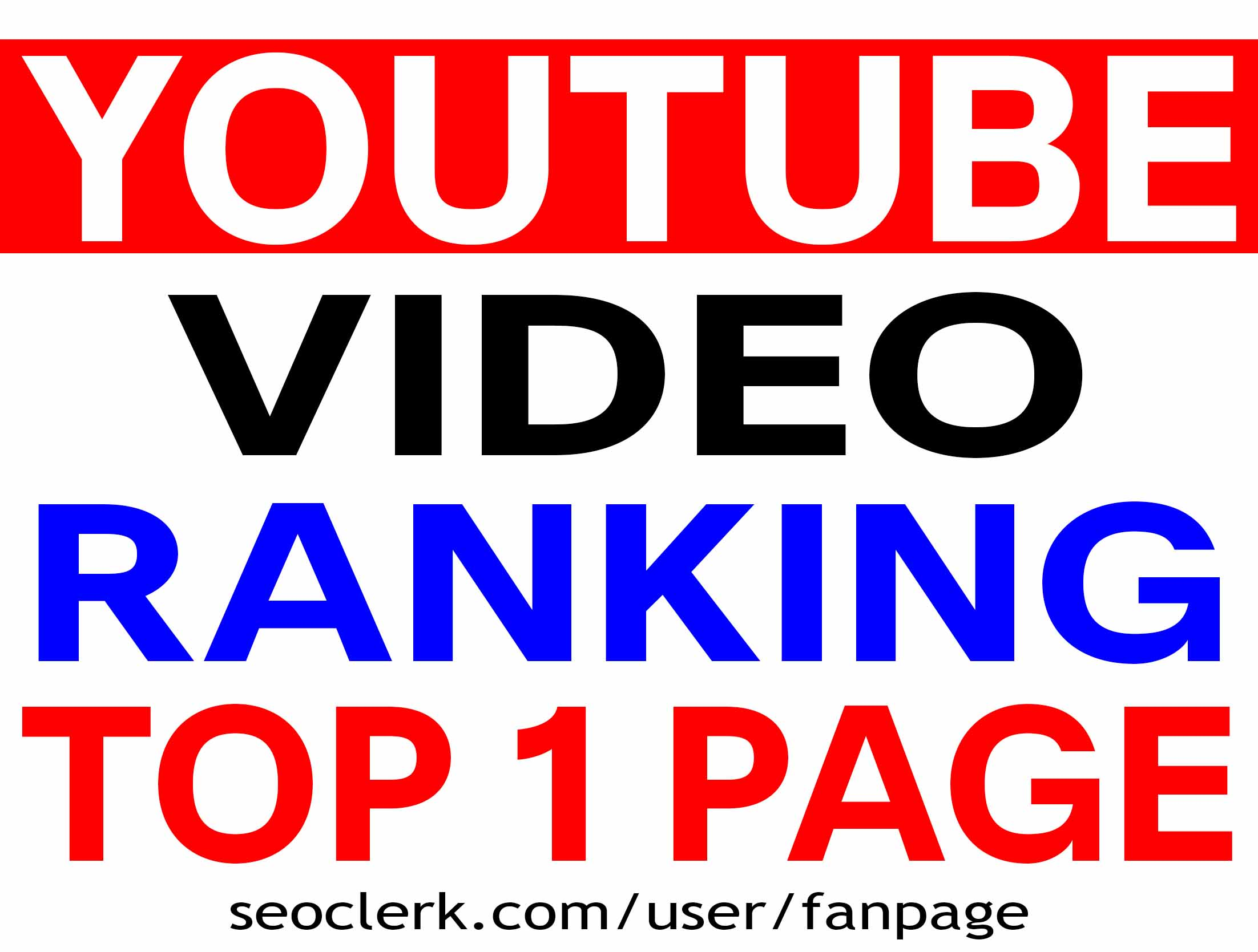 YOUTUBE VIDEO RANKING TOP 1 PAGE GUARANTEED - BEST RESULT 2020