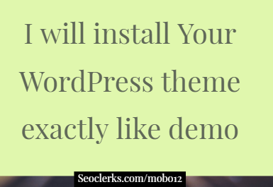 I will install your wordpress theme exactly your demo