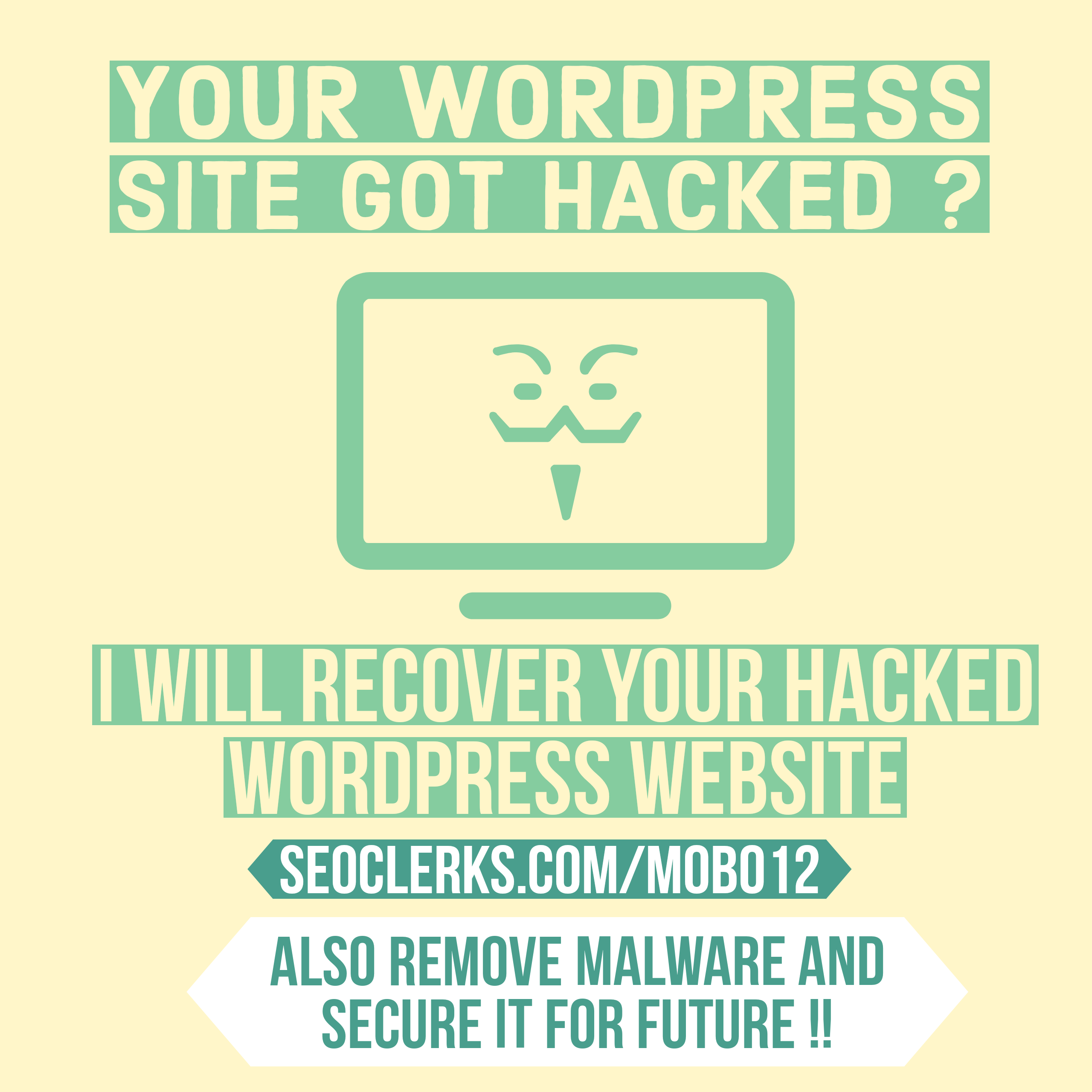 I will recover your hacked wordpress website