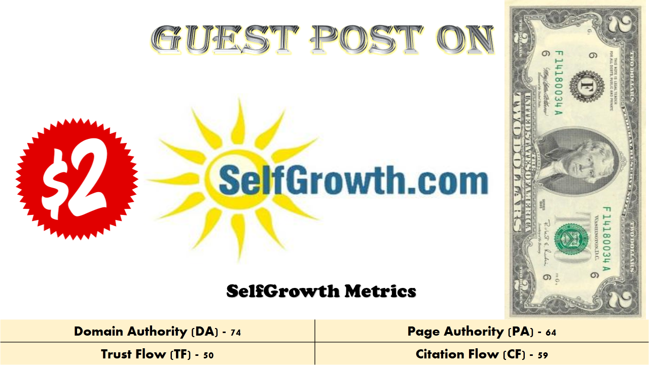 Publish Guest Post on selfgrowth da 74 with 2 Back Link