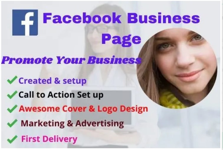 created awesome professional facebook business page