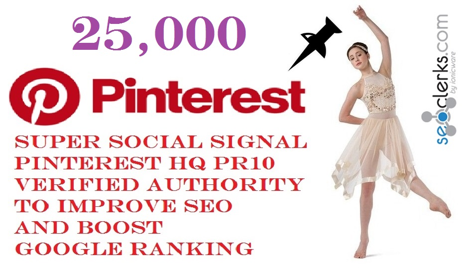 GET POWERFUL 25,000 SOCIAL SIGNAL PINTEREST SHARE FROM ONLY HIGH PR BACKLINKS VERIFIED