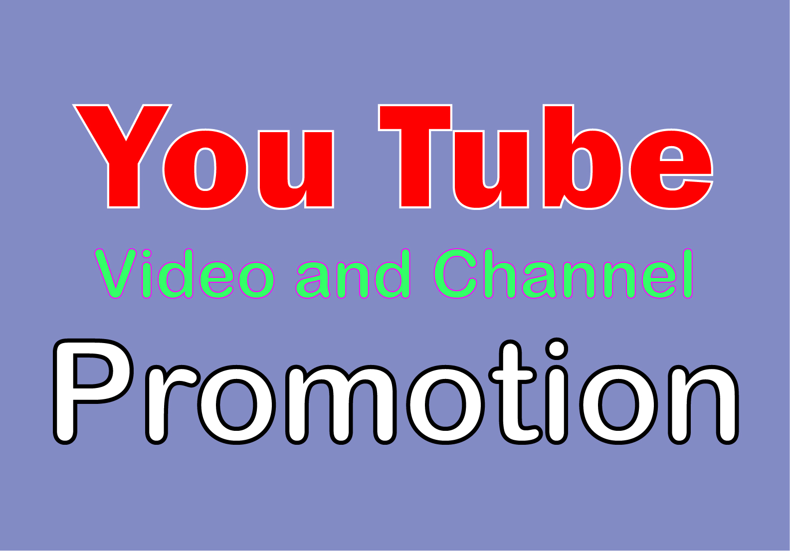 I will do safe promotion for your Video