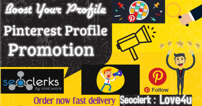150 natural Pinterest Profile Promotion grow Your Pins, Boards Digital Marketing Backlink/Bookmark