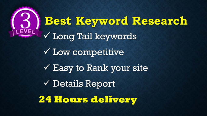 Do SEO keywords research and website competitor analysis