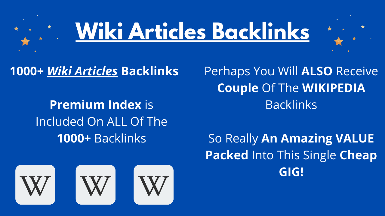 1000+ Wiki Articles Powerful Niche Relevant Backlinks