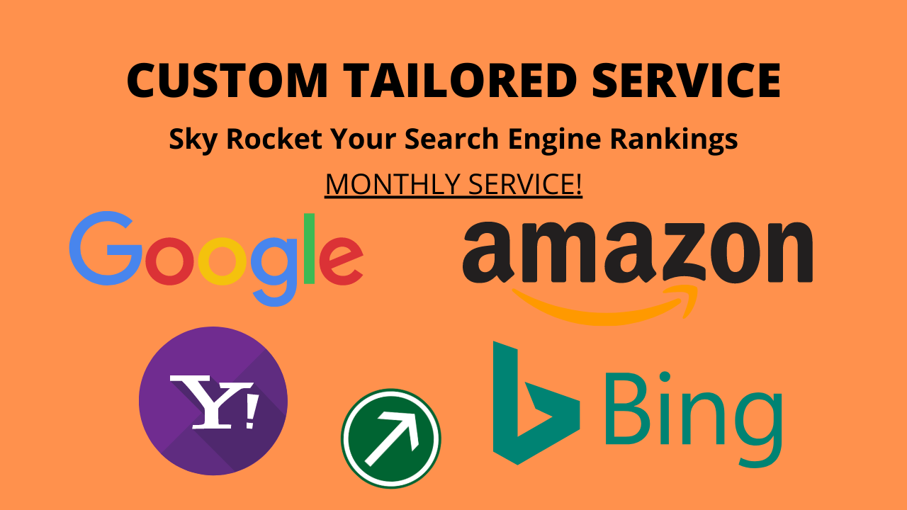 Custom TAILORED Service - SkyRocket Your Search Engine Rankings