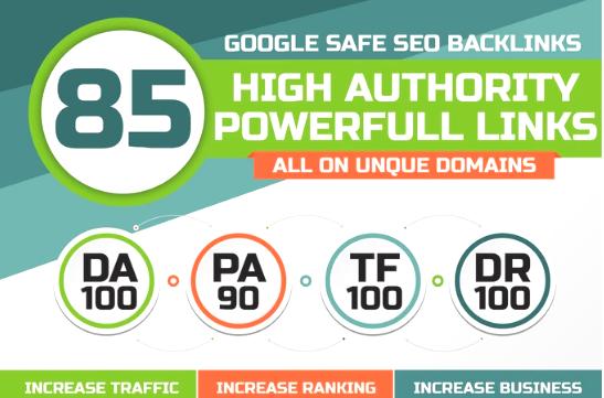 I Will Build 85 Unique Domain SEO Backlinks On Tf100 Da100 Sites