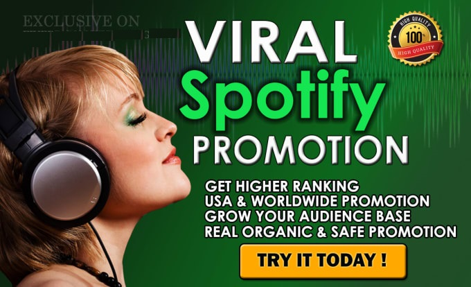 do viral and organic music promotion spoti