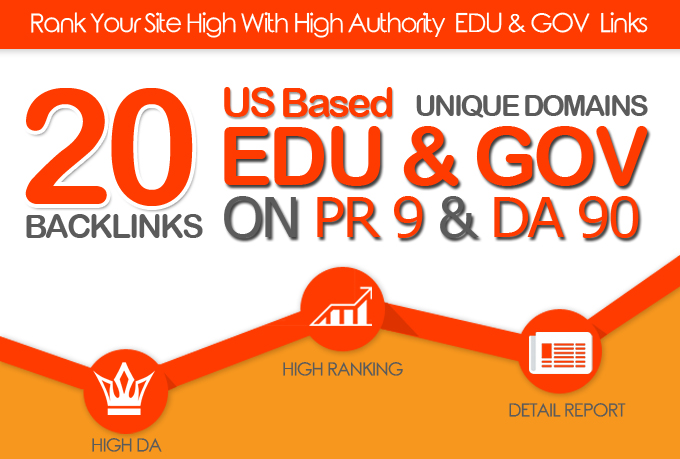 I will MANUALLY DO 20 PLUS US BASED EDU GOV LINKS ON DA90 PR9 UNIQUE DOMAINS