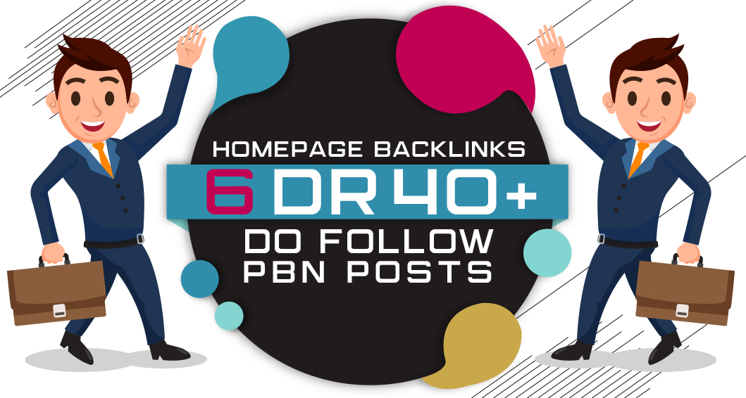 6 Manual HIGH DR 60 Plus Homepage PBN Backlinks