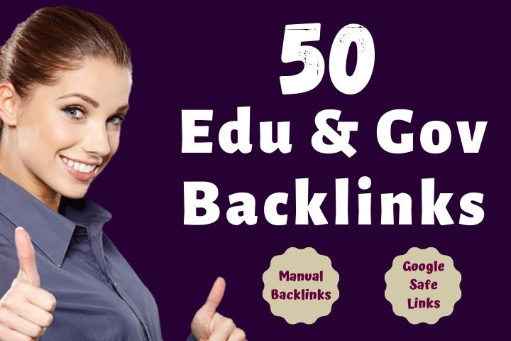 50 manual EDU & GOV SEO backlinks