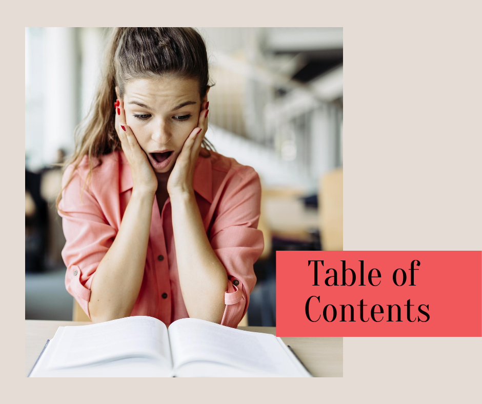Order Table of Contents for your eBook /Book