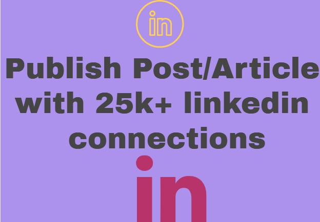 I shall publish your post on my linked profile Connections 24K in profile wall