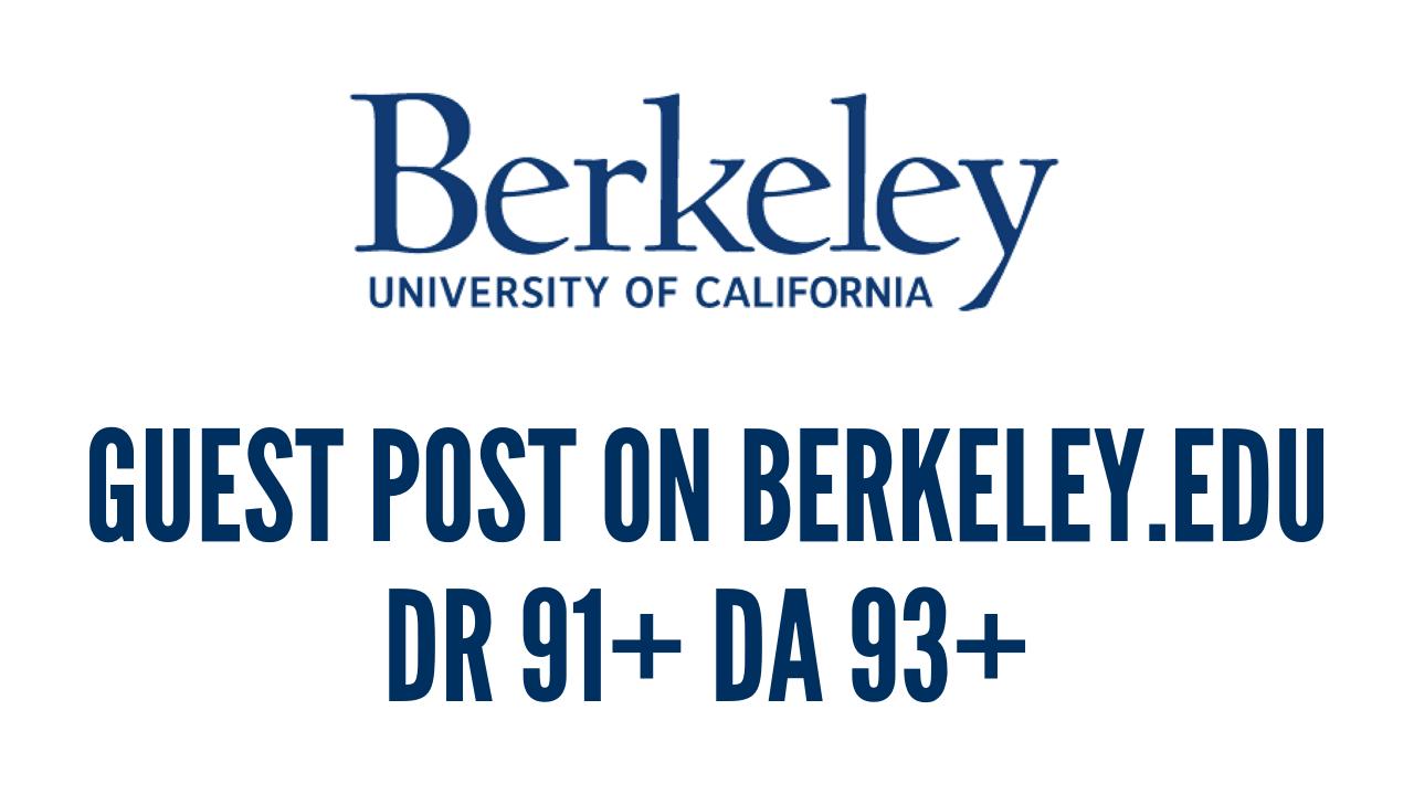 Publish A Guest Post on Berkeley. edu