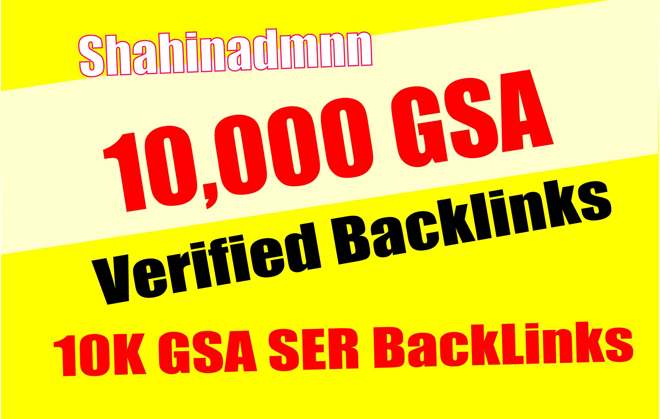 10,000 GSA SER Backlinks easy Link Juice & Faster Index
