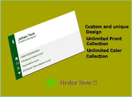 Amazing and unique Business card Design