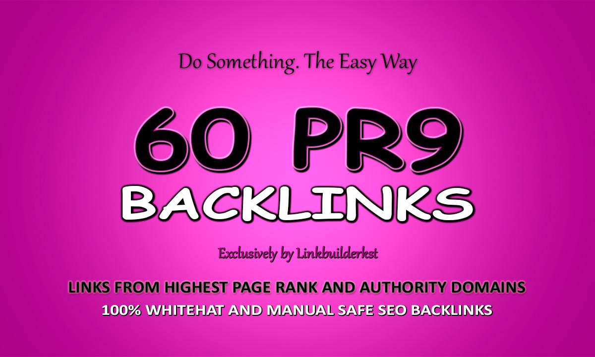 60 High DR Pr9 Authority Backlinks