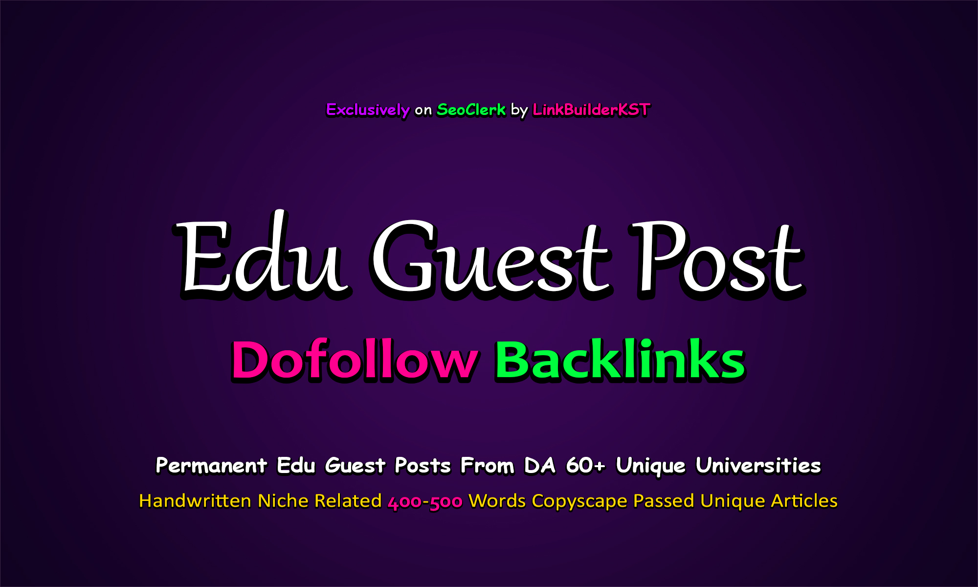 Write And Publish 3X EDU Guest Posts On Top Universities