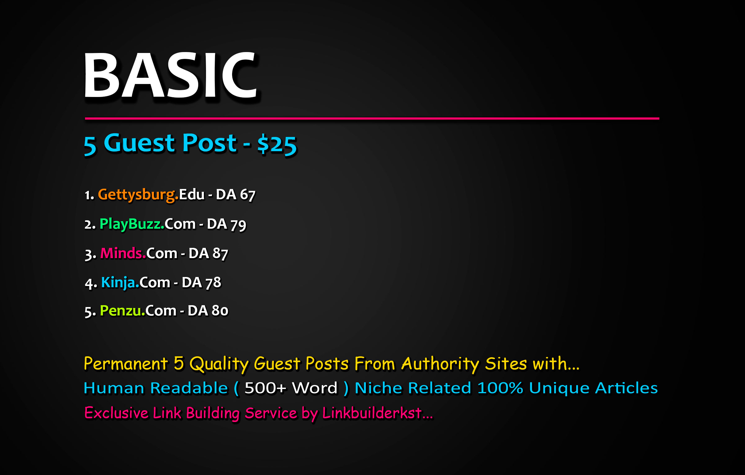 Publish 5X High Quality Guest Post From DA 60+ to 100 Platforms