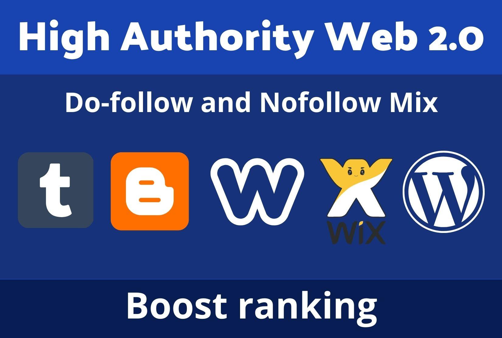 I will Provide 10 High Authority web2.o Backlinks