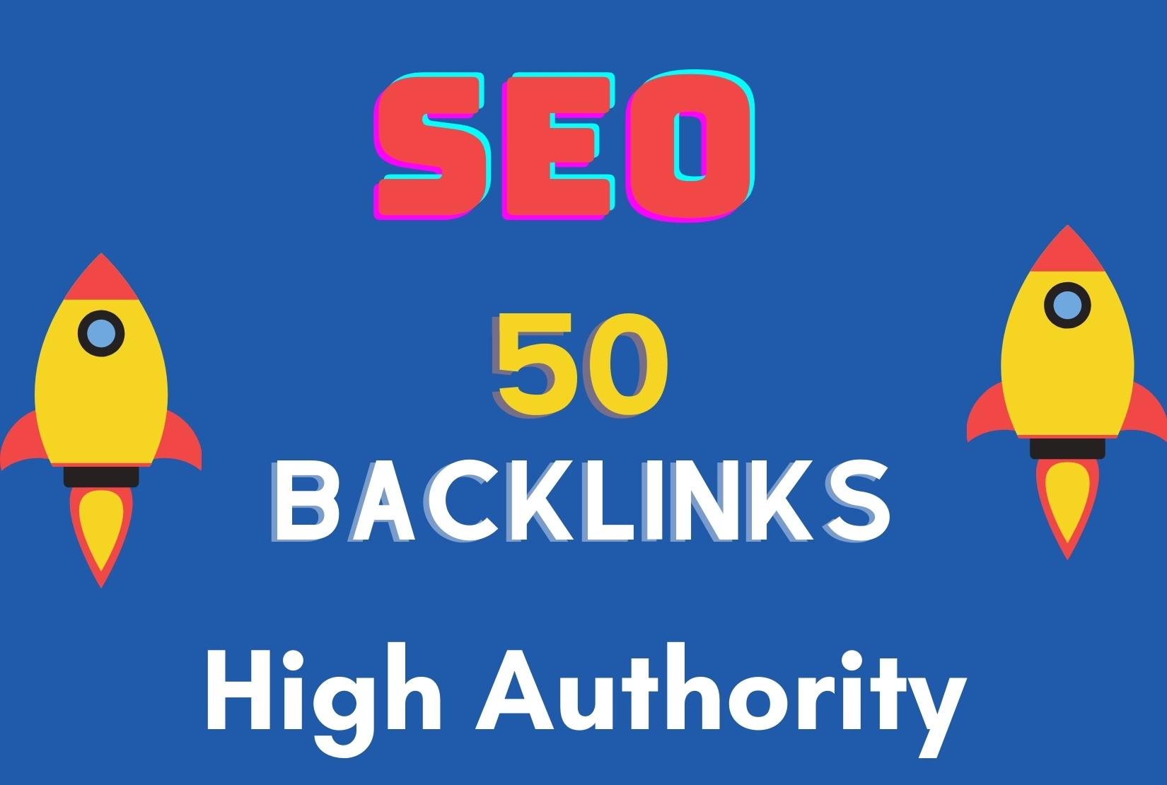 I will do 50 High Authority backlinks manually high tf