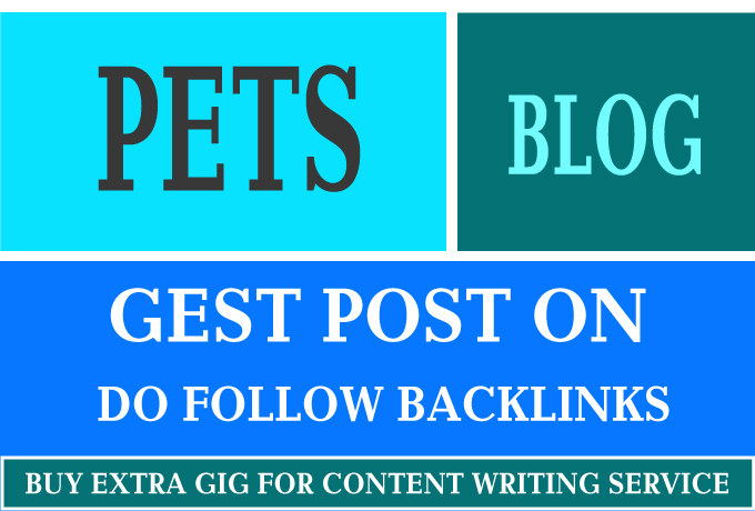 I will guest post on my high quality PETS blog