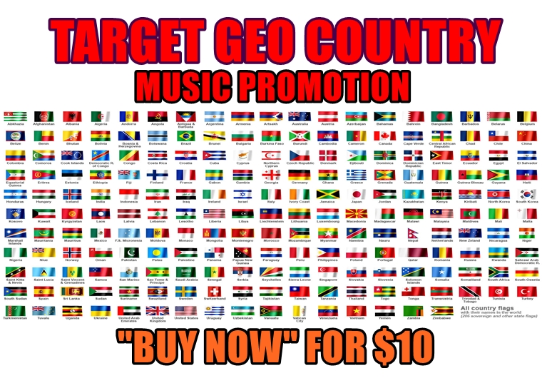 target any geography countries to your any music on audiomackplatform musicservices