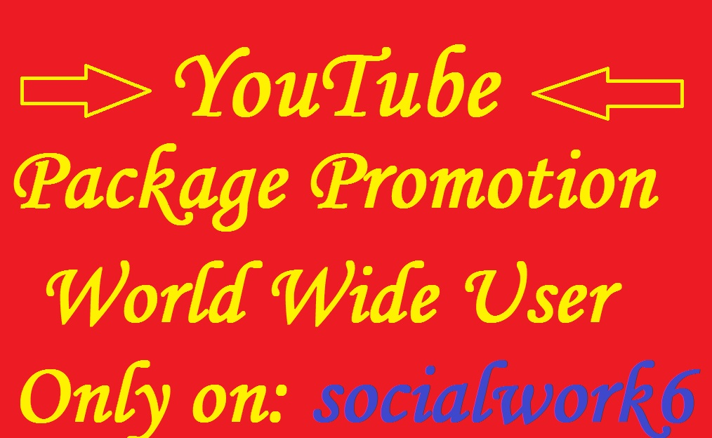Instant YouTube Package Promotion By World Wide