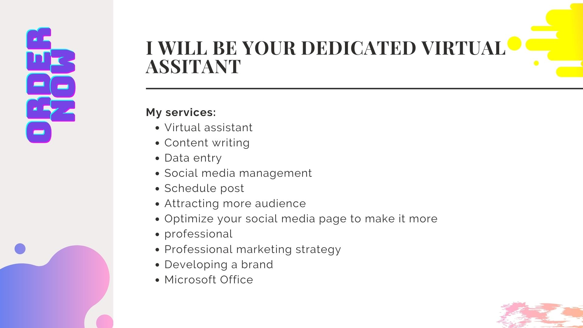 Need a virtual assistant for your social media platform Here i am,  your virtual assistant.