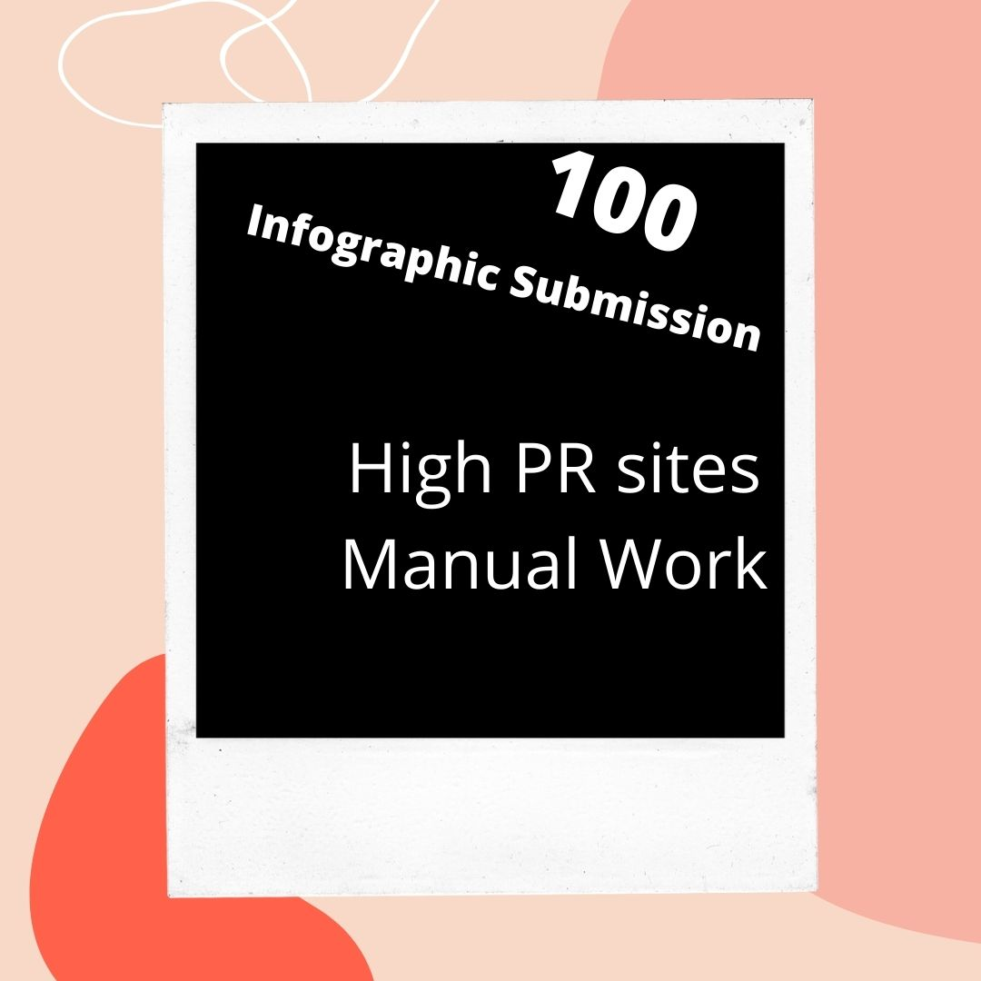 I will do 100 info graphic or image submission to high ranking PR photo sharing sites