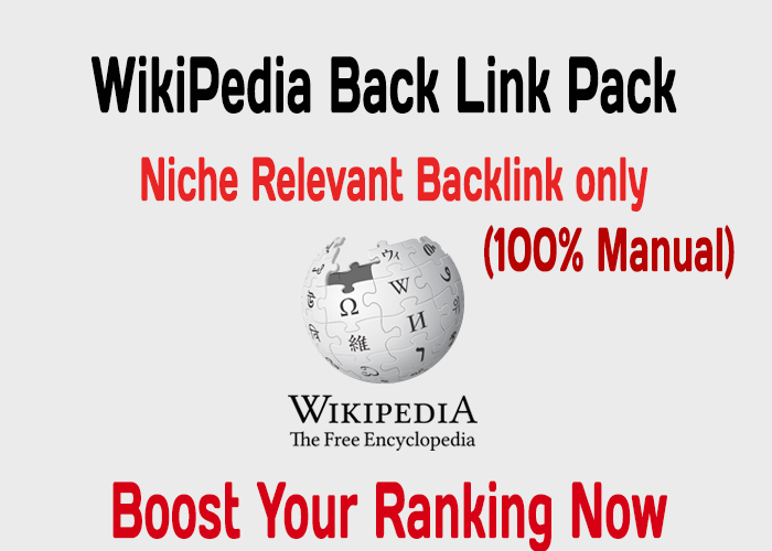 Boost Your Ranking with 2X Niche related Wikipedia Backlink