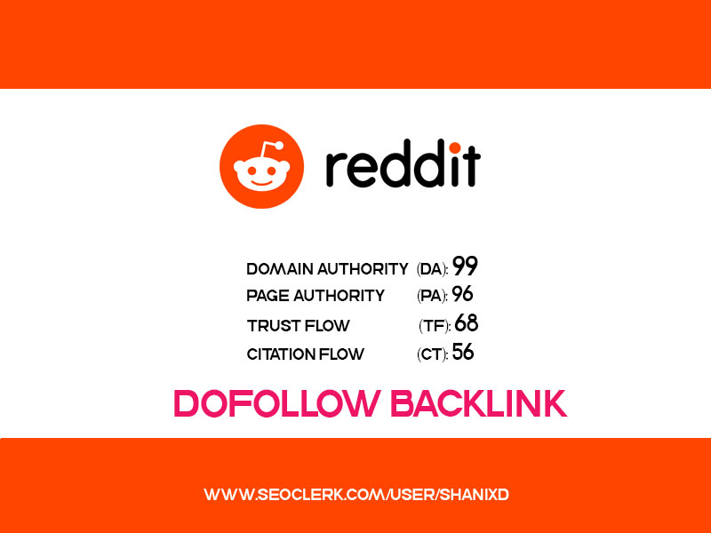 Guest Post with DOFOLLOW Backlinks on REDDIT DA 99, PA 96