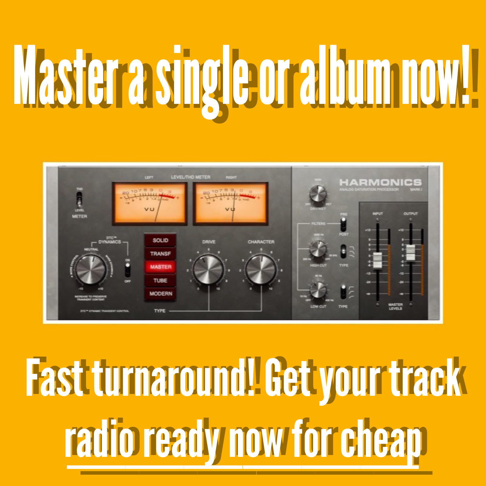 Master your single/album now quality guaranteed