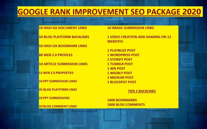 SEO Backlinks for 2020 Google Rank Improvement