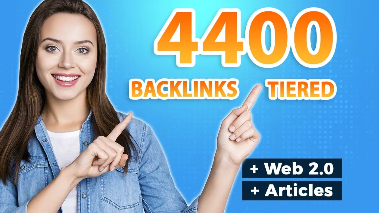 4400 ultra SEO contextual backlinks tiered for Google Rank Improvement