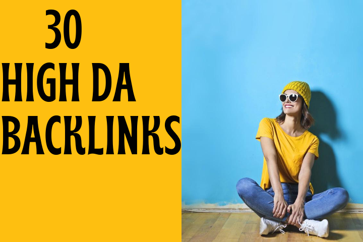 30 High Authority SEO Backlinks