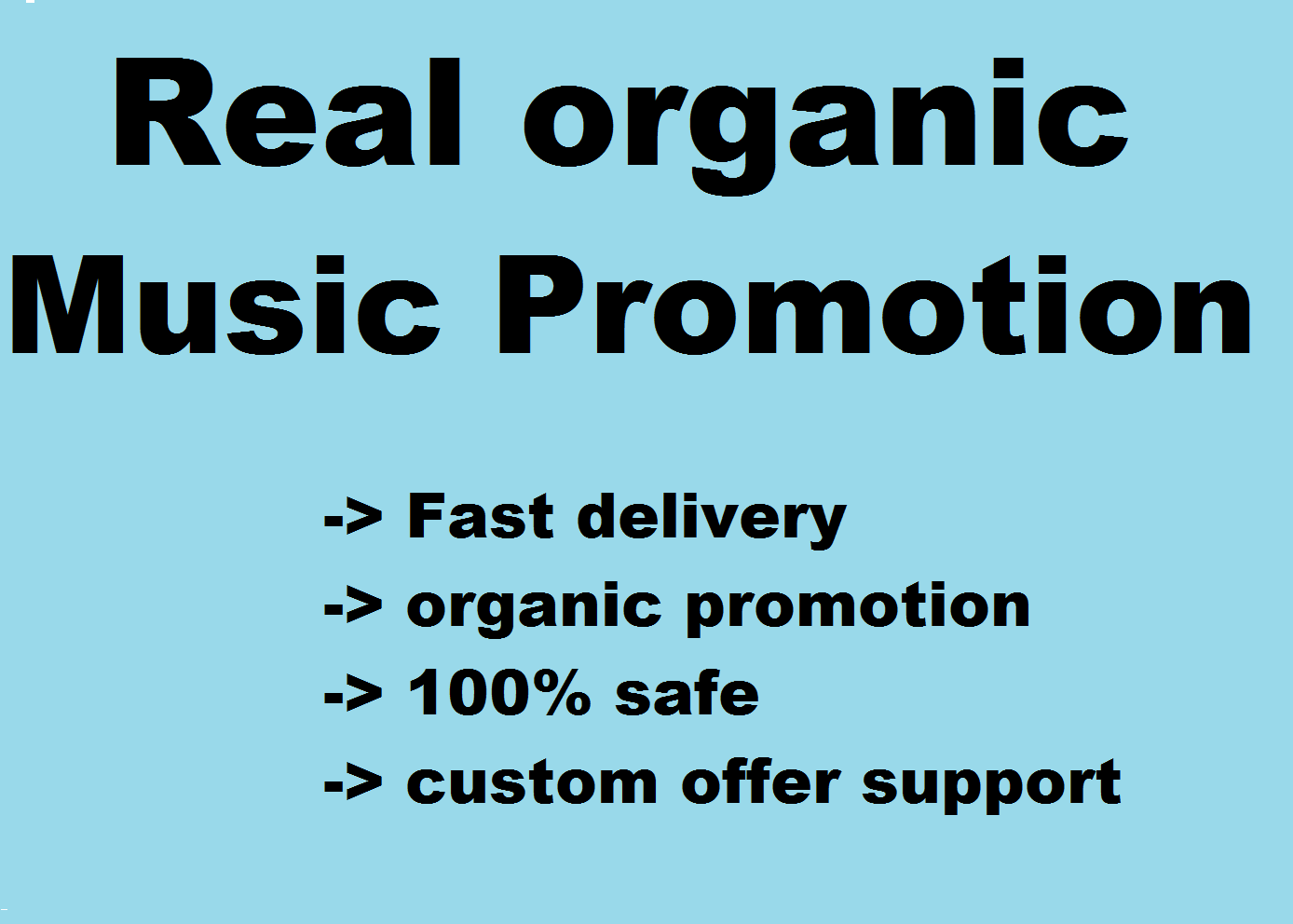 track or playlist promotion over more than 5k people with the help of social media