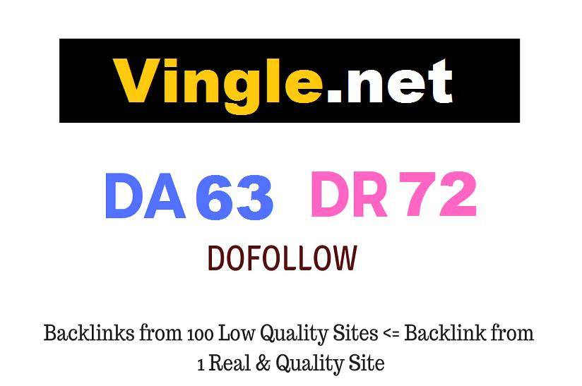 Guest Post on Vingle. net DA63 DR72