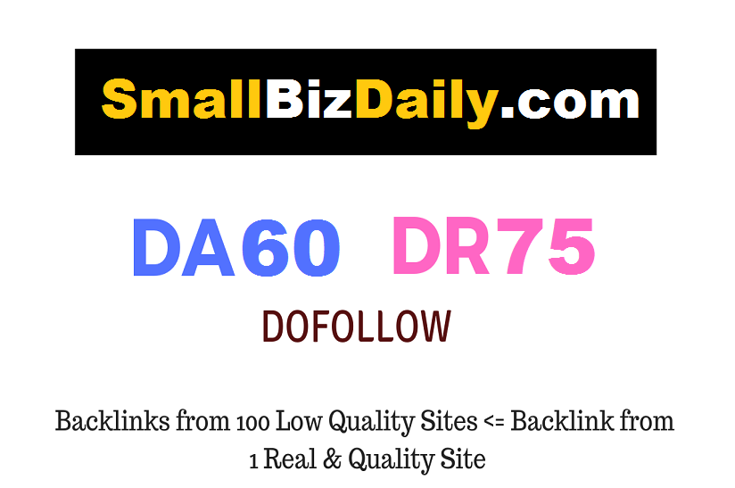 Guest Post on SmallBizDaily. com - DR75 - Dofollow