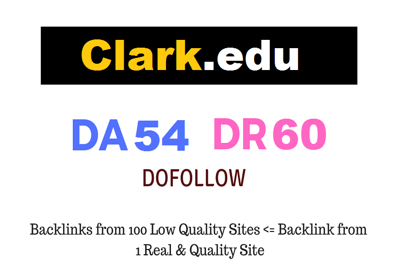 Guest Post on Clark college - Clark. edu - DA54 DR60