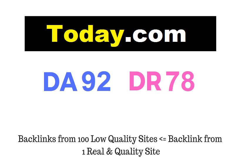 Publish Guest Post on Today. com DA92 DR78
